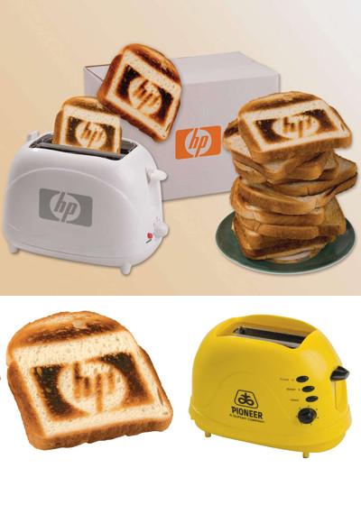 Тостеры, выжигающие логотип на хлебе