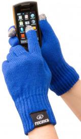 Зимние вязаные перчатки для сенсорных экранов